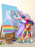 Sailor Spectrum - Paint Me a Rainbow by ArtistMeli