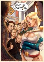 FCBD POWER GIRL and THE GUYS by J-Estacado