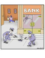 Gun Robs Bank by Conservatoons