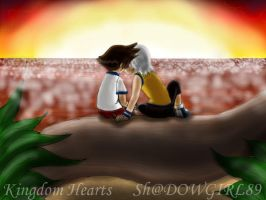 KH-Sora-Riku- Sunset Kiss by Shadowgirl89