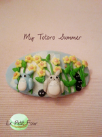 My Totoro Summer Season Barrette by AngelicLight100