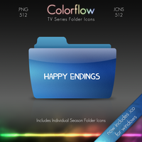 Colorflow TV Folder Icons: Happy Endings by Crazyfool16