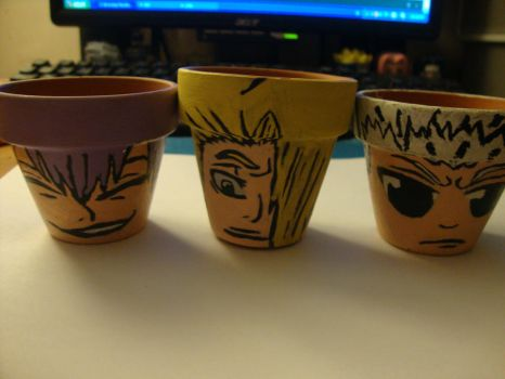 Bleach flower pots by WeAteTheCrayons