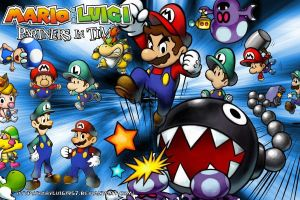 Mario and Luigi Partners in Time Huge Wallpaper by babyluigi957