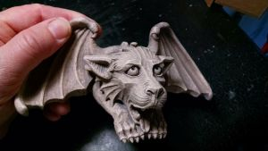 Business Card Holder Gargoyle 0018 by CastShadowsStudio