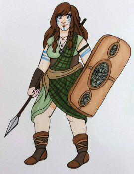 Celtic Warrior  by VardaniaSolas