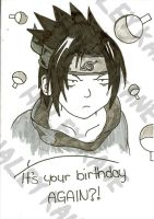 Sasuke Birthday Card by Haley-Hatake