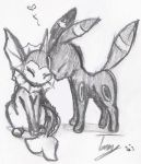 Umbreon and Vaporeon by DanceForToads