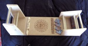 Tablet weaving board by Aranglinn