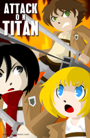 Attack on Titan poster by SelanPike