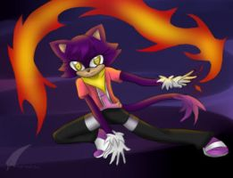 The fiery spirit of a martial artist by Angel-Hearted-Being