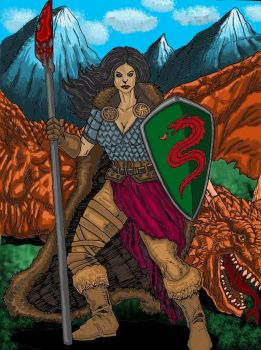 Barbarian Queen/Dragon slayer by Phillymon75