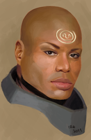 Teal'c speedpaint by irasponsible
