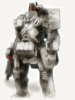 Paper for iPad - Bulky Cyber Soldier by Legato895