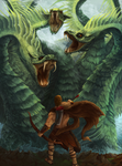 Hercules' Labor2 - The Lernean Hydra by Nidhogge