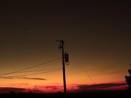 Power Line and Sunset. by theblueofmyoblivion