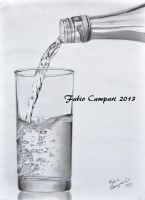 H2O - Pencil on paper 24x33 by Camparbio