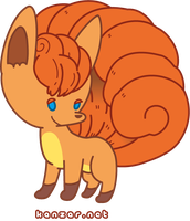 Vulpix by canczar