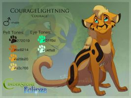 Couragelightning re-Ref by Nightrizer
