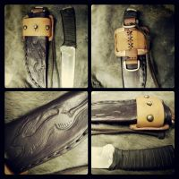 Customized Knife and Sheath by JoshSkaarup