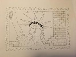 BW-Scales: USA Stamp Design Proposal by Hyperagua