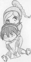 Ty Lee and Toph chibi by Demon-Keychain
