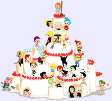 One Piece Cake Crazy Cuteness by Hikari-Noraneko