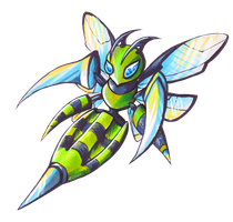 Shiny Mega-Bee Type Collab by Pokemonpassage
