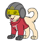 TomodachiSmash as a Puppy (with a helmet) by TomodachiSmash