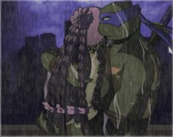.:TMNT Surprised Embrace:. by Dawnrie