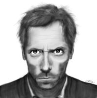 Dr. House Digital Portrait by theworldiveknown