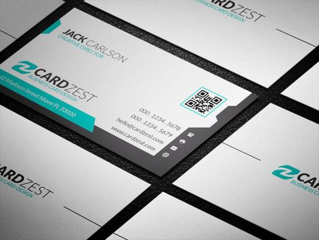 Simple and Stylish White Business Card Template by mengloong