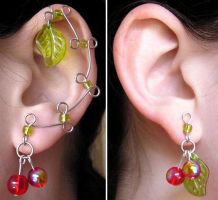 Leaf and Berry Ear Vines v2 by lavadragon