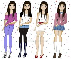 July's outfits by pispispis
