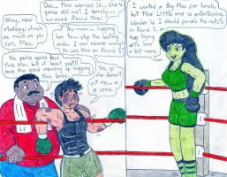 Boxing - Little Mac vs Shego by Jose-Ramiro