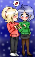 for you in this christmas- Ash x Elisabeth by x-Sneering-Blaze-x