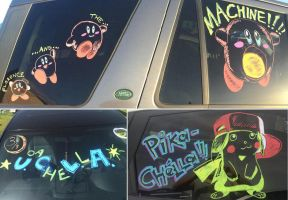 Coachella 2015 - Window Chalk #2 by whowillstopmenow