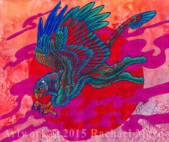 Margruffled Gryphon color by rachaelm5