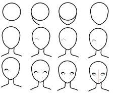 How to draw an anime face? by pixielog