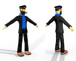 Captain Haddock by phantomx2