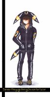 Fashion sketch Umbreon Hoodie by sandertheyugiohking
