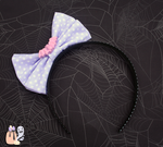 Spooky Kei Pastel Purple Bat Bow Headband by 1stQueenOfHalloween