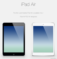 iPad Air customizable PSD by WillViennet