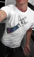Rock Sleeve T-Shirt - First Sample by Mr-Crease