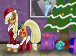 Merry Christmas (Hearth Warming) Applejack by Phlar1245
