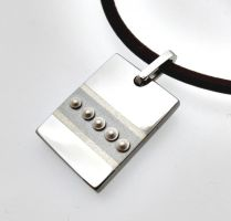 Bradded Sterling Pendant by Spexton