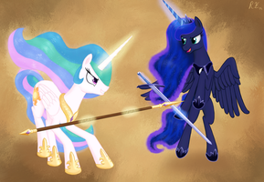 Royal Sparring by tomayto