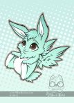 Flying Mint Bunny by bluekoinu