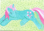 My little Pony - Sleeping Fizzy - ACEO by Flicksi