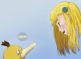 Ezra and her dumb Psyduck 2 by Ellygeh
